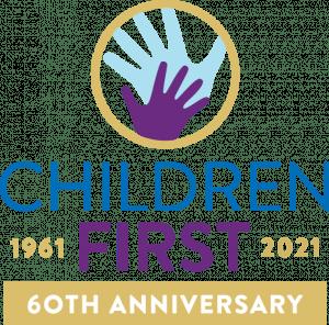 children first 60th celebrating logo vertical