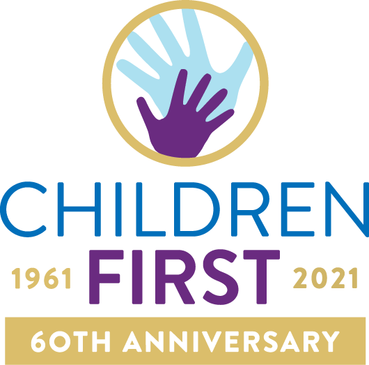 children first 60th celebrating logo vertical