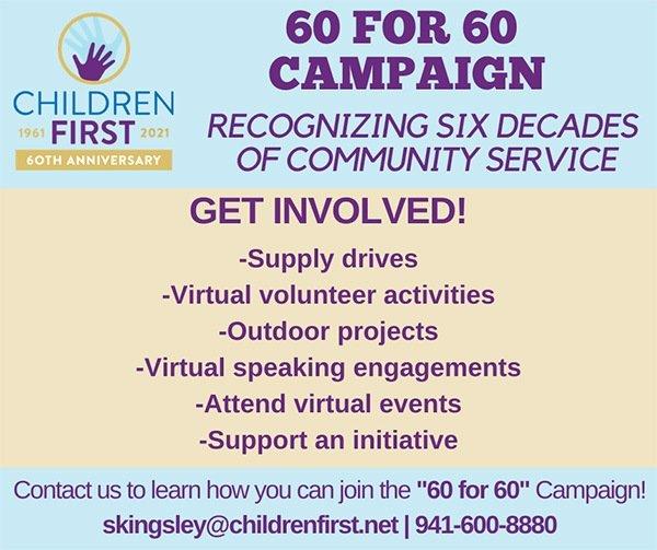 Children First 60 for 60 Social Media Announcement